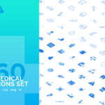 Medical Icon Set (60 Icons, AI, EPS, SVG, PNG)