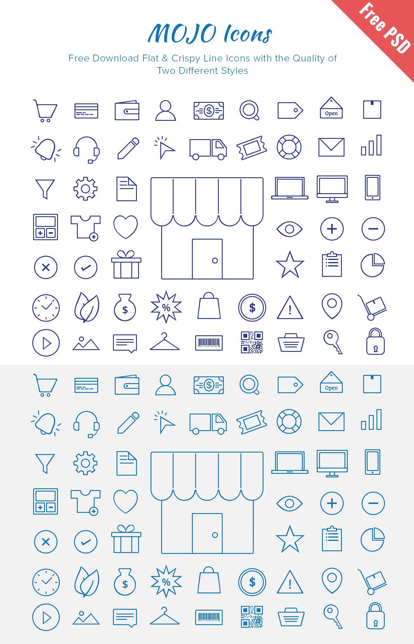 Free Mojo Line Icons