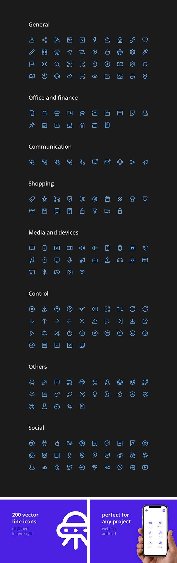 Free Unicons Icon Set