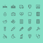 Health and Care Vector Icons (AI)