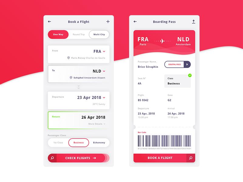 Free Flight App UI Kit