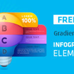 Gradient Style Infographic Elements: AI, EPS, and JPG