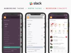 Slack iPhone UI Redesign Concept