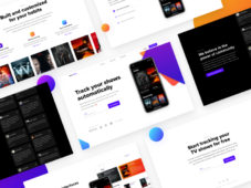 ShowTrackr - Free App Landing Page Template