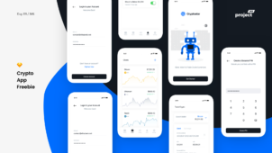 Crypto App - iOS UI Kit Freebie
