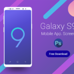 Free Galaxy S9 Mobile App Screen PSD Mockup