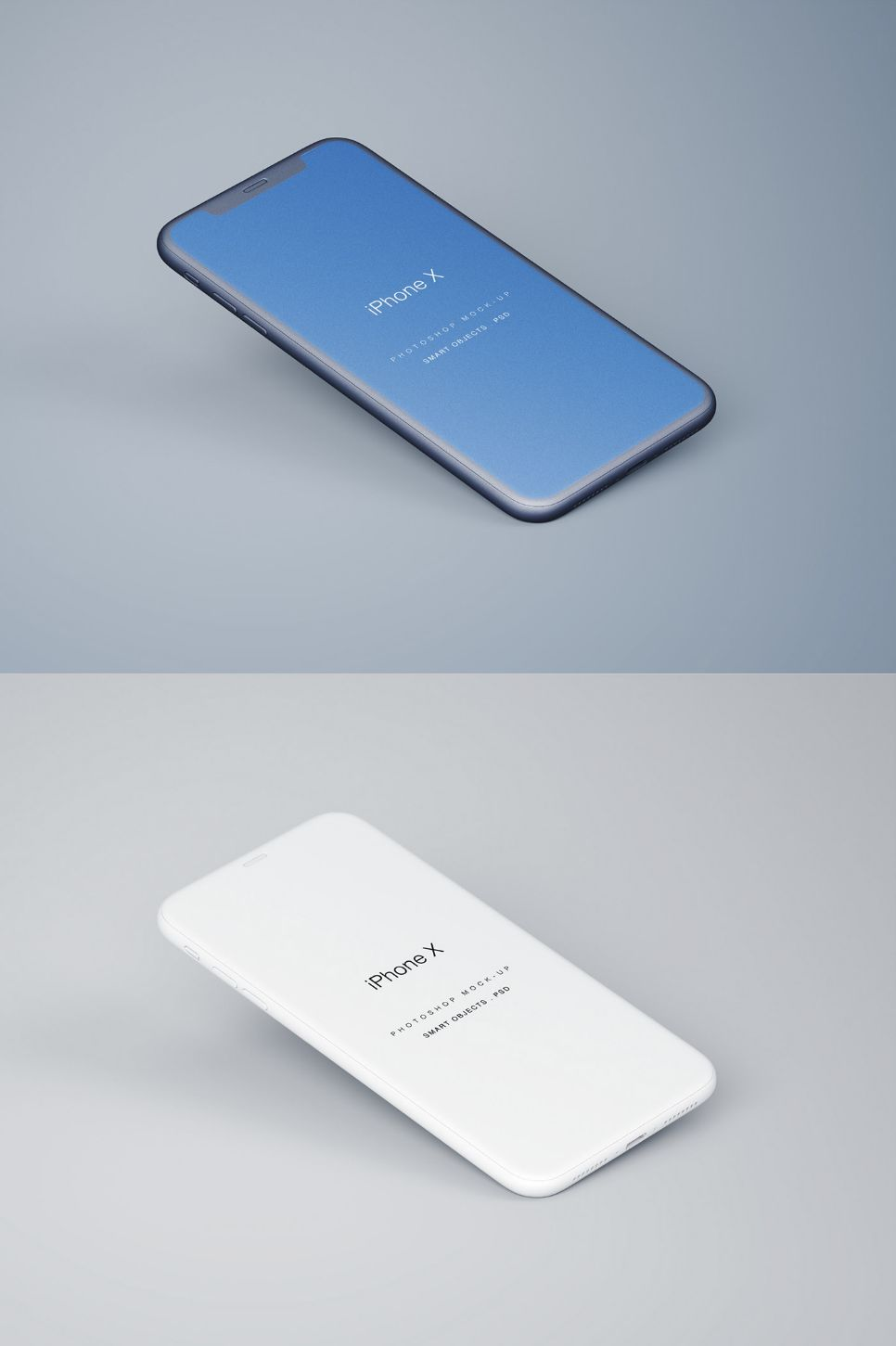 Free Perspective iPhone X PSD Mockup