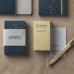 Free PSD Notebook Mockup Set