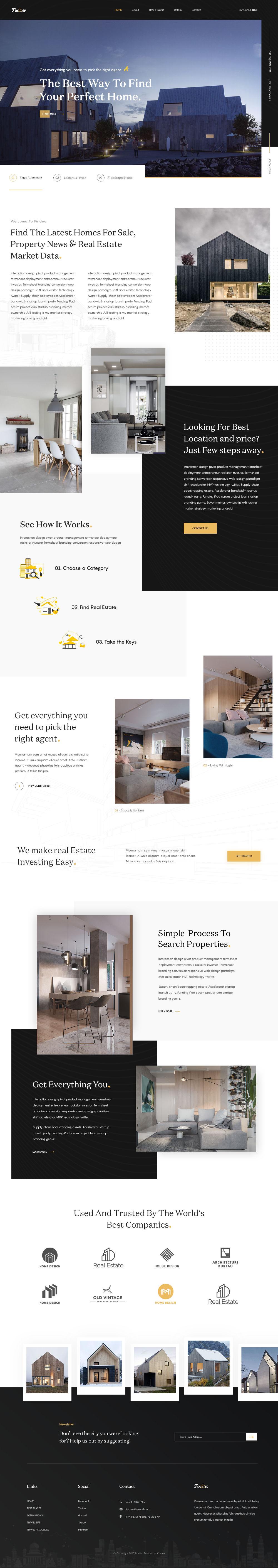 Free Real Estate Landing Page Template