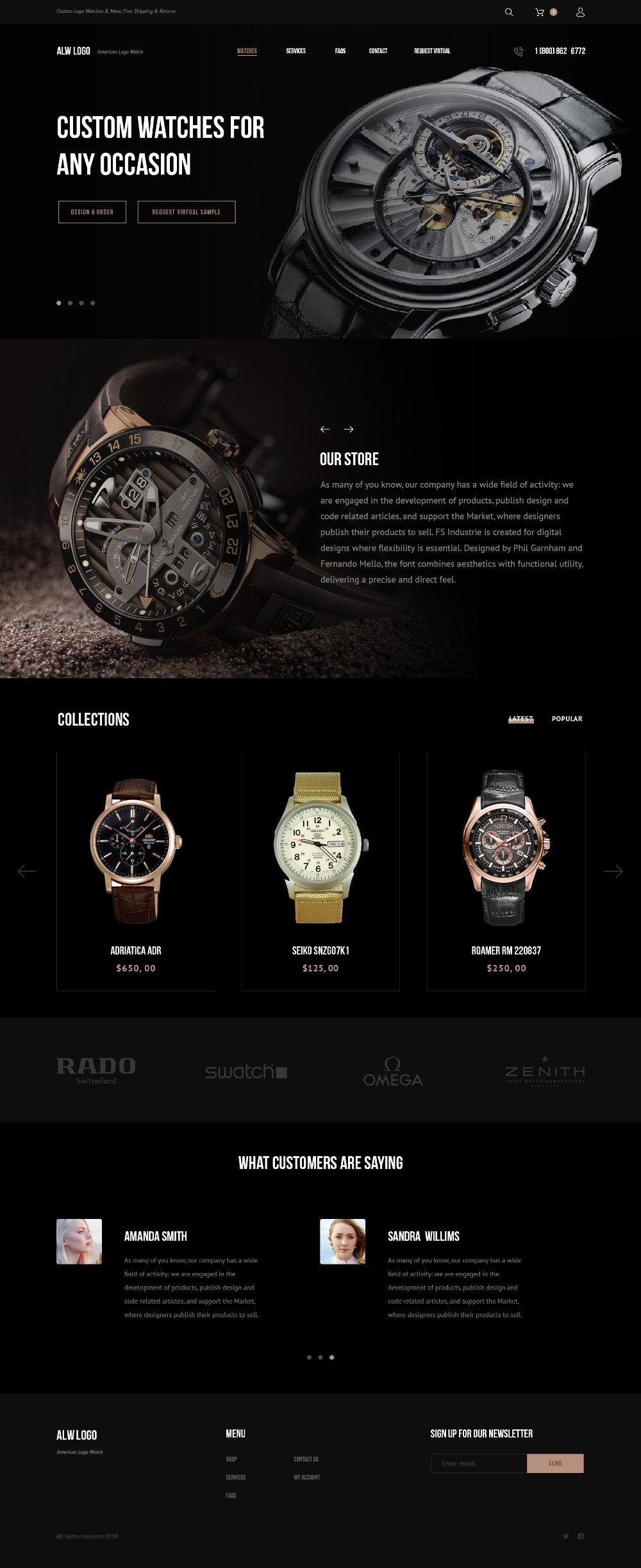 Free. PSD Watch Store Website Template