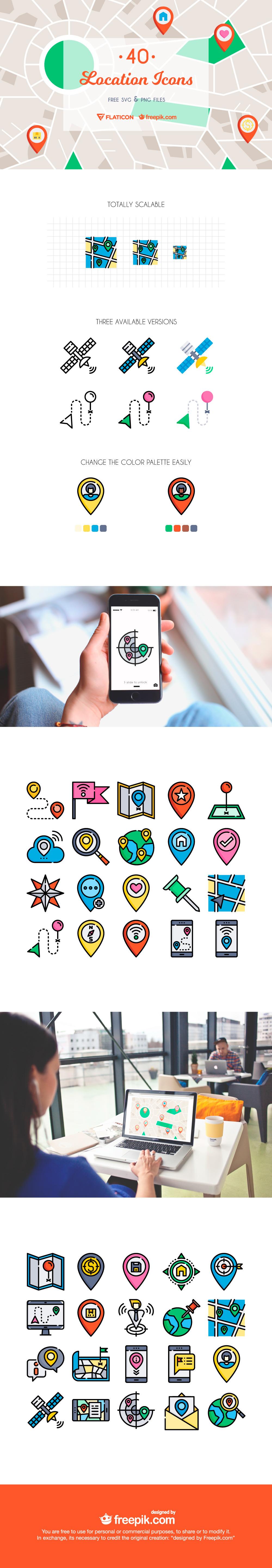 The Free Location Icon Set by Freepik