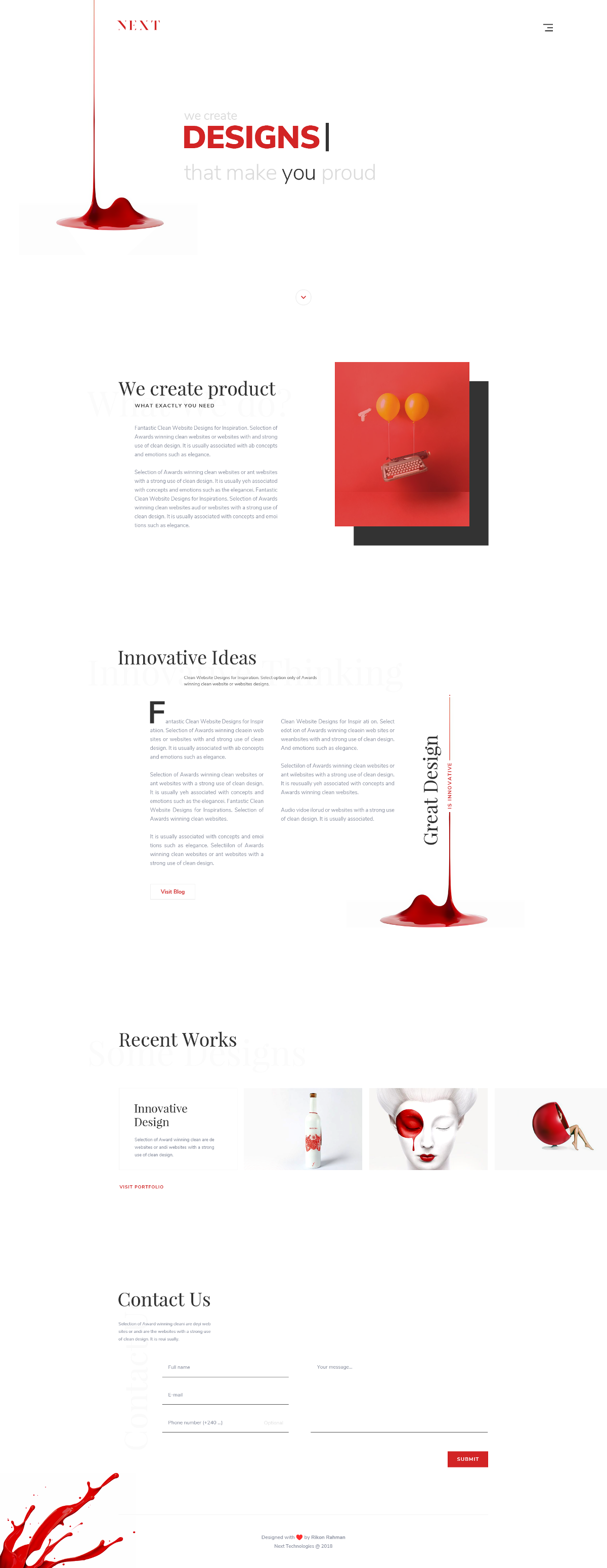 Next - Free Digital Agency Landing Page Template