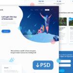 Muncak – Free Hiking Landing Page PSD