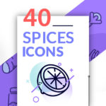40 Spices Icons (EPS, PNG)