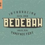 Bedebah Typeface – Free Font