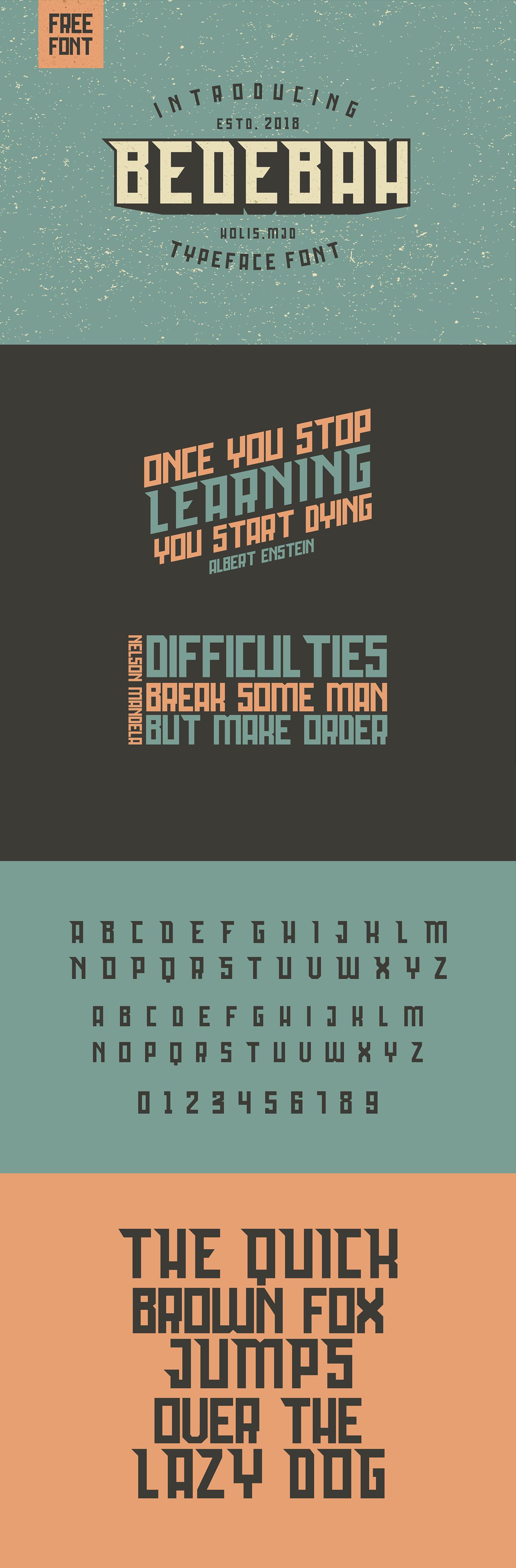 Free Bedebah Typeface - Slab Serif Fonts