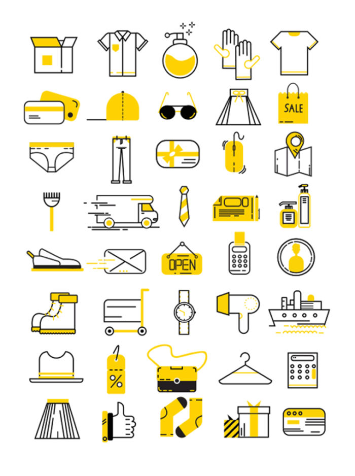 Free Clothes Shopping Vector Icons