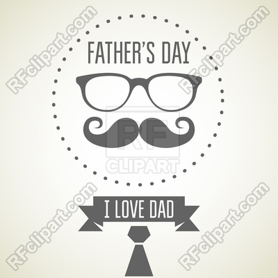 I Love Dad Free Vector Image