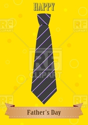 Yellow Card With Tie Free Vector Image
