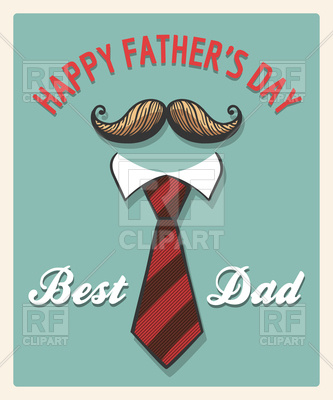 Mustache and Tie Free Vector Image