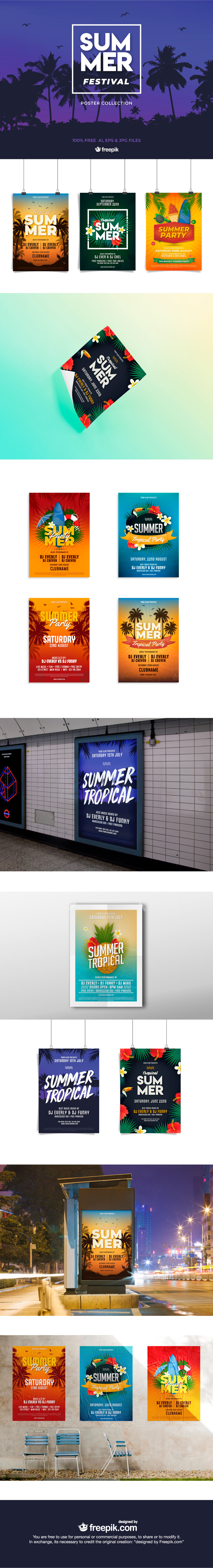 Free Summer Festival Poster Templates