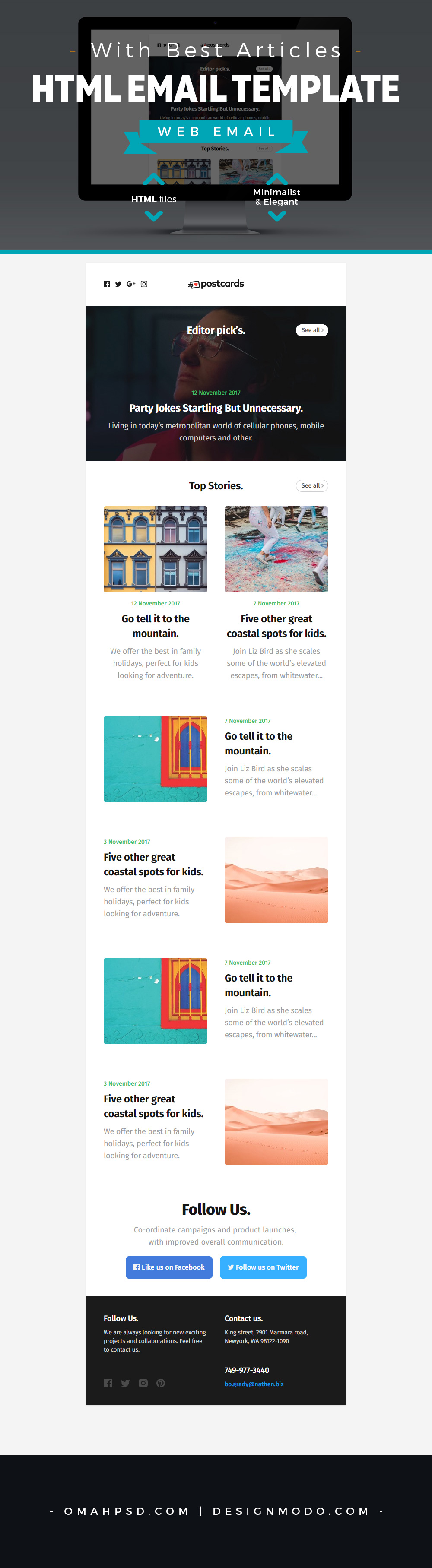 Free Email Template with Best Articles