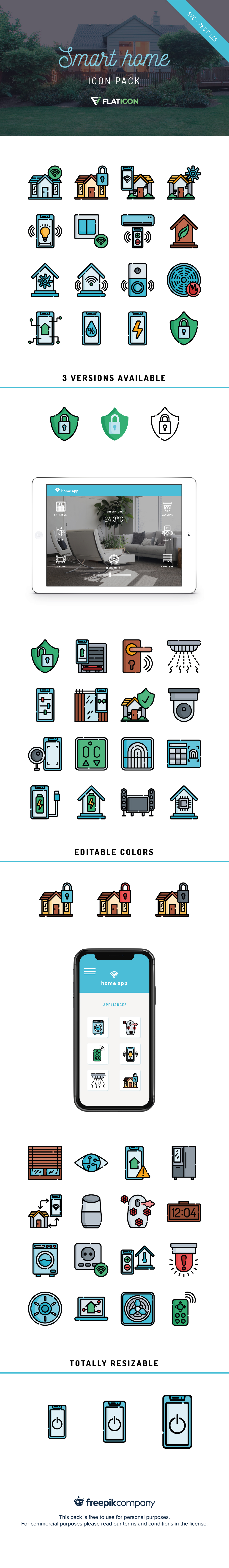 Free Smart Home Icon Pack