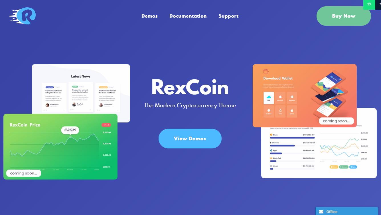 RexCoin WordPress Theme