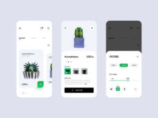 Free Plant Shop eCommerce App Template