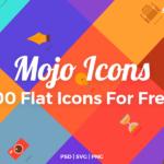 Mojo Icons – 100 Free Flat Icons (PSD, SVG, PNG)